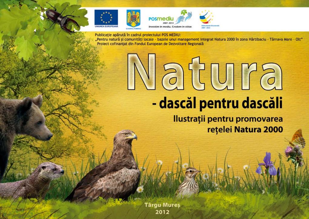 Natura – dascăl pentru dascăli – ilustrații pentru promovarea rețelei Natura 2000